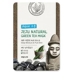 Успокаивающая маска с зеленым чаем Welcos Jeju Green Tea, 20 мл