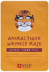 Успокаивающая тканевая маска для лица SNP «тигр», 25 мл