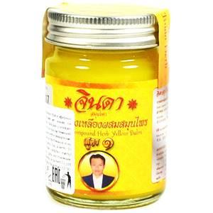 Желтый травяной согревающий бальзам Jinda, 50 гр